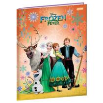 Caderno Brochura 1/4 96 Folhas Capa Dura Jandaia - Frozen 04