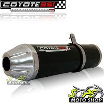 Escape Ponteira Coyote Ss1 Alum Xre 300 Redondo Preto Honda