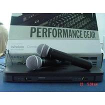 Microfone Duplo Sem Fio Shure Pg288/pg58 Bateria - Promocao