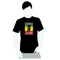 Camisa Camiseta Em Algodão- Bob Marley Jogando Futebol