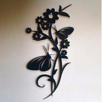 Decoração De Parede Escultura Em Mdf Flores - Floral N.21
