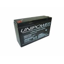 Bateria Selada 6v 12ah Unipower 2 Anos