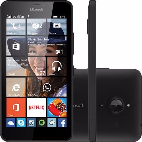 Microsoft Lumia 640 Dual Dtv Preto 8gb Cam 8mp 3g Wifi Nf - e