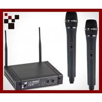 Microfone S/ Fio Duplo Tsi Ud 1000 Uhf