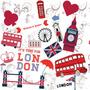 Papel De Parede Love Londres Vinílico