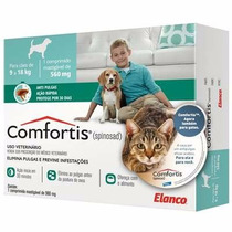 Comfortis Anti Pulgas Cães 9 A 18kg E Gatos 5,5 A 11kg