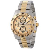 Relógio Invicta Masculino 15207 Pro Diver Dourado Cronógrafo