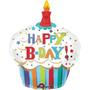 Balão Cupcake Super Shape- Happy B-day - 01 Unidade - Medi