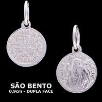 Medalha De São Bento - Pingente Em Prata 925 - 220608