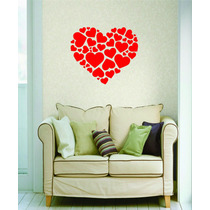 Adesivo Parede Cabeceira Cama Quarto Coração Casal Amor