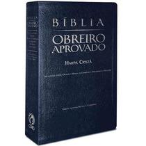 Bíblia Do Obreiro Aprovado Com Harpa Cristã Luxo Cpad Azul