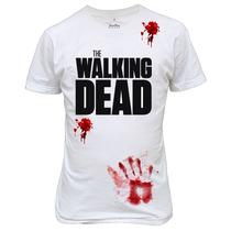 Camiseta The Walking Dead Infectados Zumbi Sangue