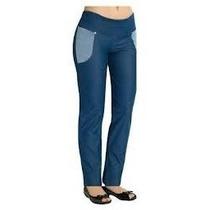 Calça Feminina Xg 52 54 Size Plus Cintura Alta Jeans Cotton