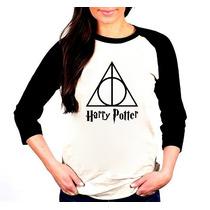 Camisa Harry Potter Raglan 3/4