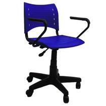 Cadeira Secretária Giratória Black Com Braço