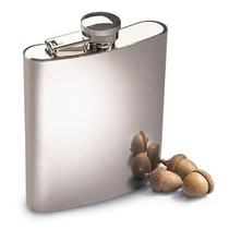 Kit 10x Cantil Porta Bebida Bolso 210ml Inox - Whisky Vodka