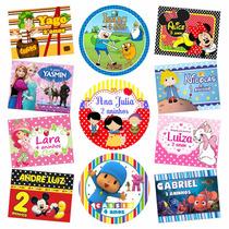 50 Rótulos Adesivos Personalizados Festa Infantil Só R$ 7,99