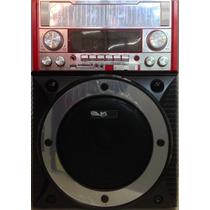 Caixa Amplificada Com Microfone S/ Fio Potente Usb Sd Fm 35w