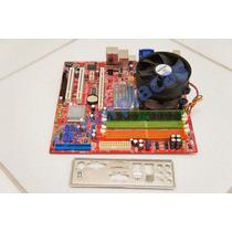 Kit Placa Mãe Pos-mig31ae 775 + Pro.intel Cel.1.8 + 1gb Ddr2