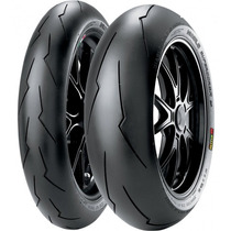 Jogo Pneu Moto 120/70r17+200/55r17pirelli Diablo Super Corsa