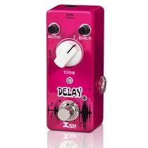 Pedal De Delay Xvive Para Guitarra V5 Metal Rosa