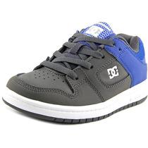 Dc Shoes Manteca Juventude Rodada Toe Couro Skate Shoe