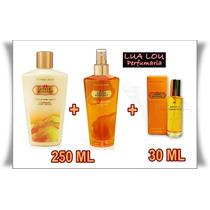 Kit Amber Romance Body + Creme + Perfume Vic Secret 250 Ml