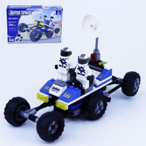 Bloco Montar (128pcs) 20x10cm Outer Space Car Compt. Lego