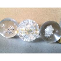 Bola Para Fonte De Vidro Decorativa Cristal Com Suporte