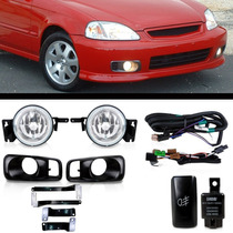 Kit Farol De Milha Honda Civic 1999 2000 Bt Modelo Original