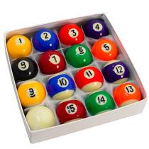 Jogo 16 Bolas De Bilhar Luxo Profissional Snooker Sinuca
