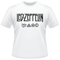 Camiseta Led Zeppelin Símbolos Banda Rock Camisa