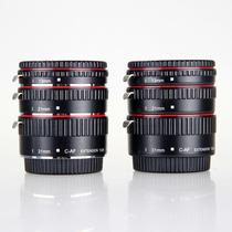 Tubo Extensor Canon Auto Foco Para Macrofotografia Vermelho
