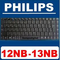 Teclado Philips 12nb 13nb 71-878239-10 V022409dk1 Preto Br Ç