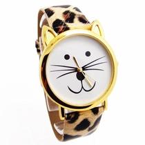 Relógio De Gato Importado Pronta Entrega No Brasil