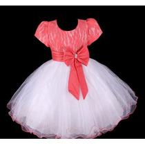 Vestido Infantil Festa/ Dama/florista/casamento Renda Cores