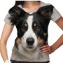Camiseta Cachorro Border Collie Feminina