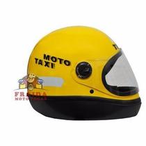 Capacete Taurus Fórmula 1 Moto Taxi Amarelo - Tamanho 58