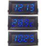 Voltímetro Termômetro Relógio Luz Led 12v 24v Dc Bateria Som