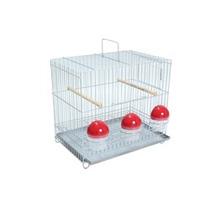Gaiola Canários Para 3 Comedouros Aves Pet Shop