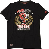 Camiseta Marc Márquez Two Times World Champion Preto Gg Rs1