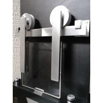 Kit Porta De Correr Vidro - Roldana Aparente