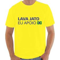 Camiseta Operação Lava Jato - Eu Apoio!
