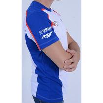 Camiseta Jorge Lorenzo Yamaha Branco/azul G(l) Rs1