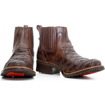Bota Texana Escamada Country-western-hoper Couro Legitimo