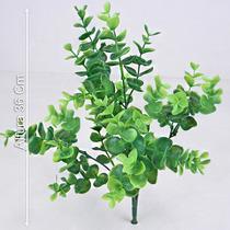 Buquê C/5 Galhos Eucalipto 36 Cm Verde - Flores Artificiais