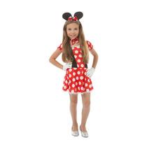 Fantasia Minnie Infantil,ratinha,vestido Minnie, Cosplays