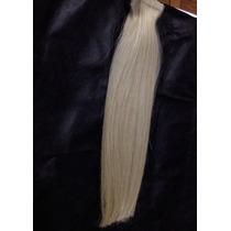Mega Hair Fita Adesiva, Platinado 30 Cm, 40 Pçs, Fretegrátis