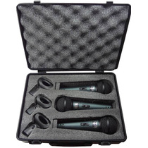 Kit 3 Microfones Profissionais Bt58a Cachimbos E Maleta