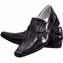 Sapato Social Masculino Verniz Confort Forrado Frete Gratis